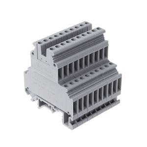 Image 2 - 50 adet UKK3 DIN ray çift seviye çift sıralı Terminal bloğu 500V 25A 28 12AWG gri