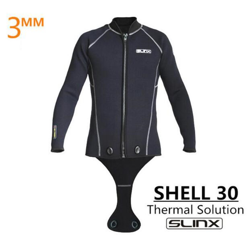 SLINX Men 3mm Neoprene Men Scuba Diving Suit Snorkeling Spearfishing Wetsuit Surfing Windsurf Keep Warm Jacket Connecting Crotch slinx spro 1103 3mm neoprene men spearfishing kite surfing scuba diving suit snorkeling boating short sleeve wetsuit swimwear