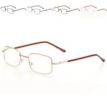 7600fd769c Metal Eyeglasses Frame Rectangle Presbyopia Hyperopia Old Man Reading  Glasses 100-400 Degree(China