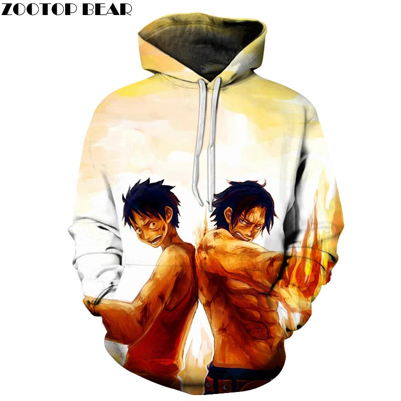 One Piece Muscle 3D Printed Brand Casual Hoody Sweatshirts Men Tracksuit Hoodie Pullover Streetwear Coat DropShip ZOOTOPBEAR New