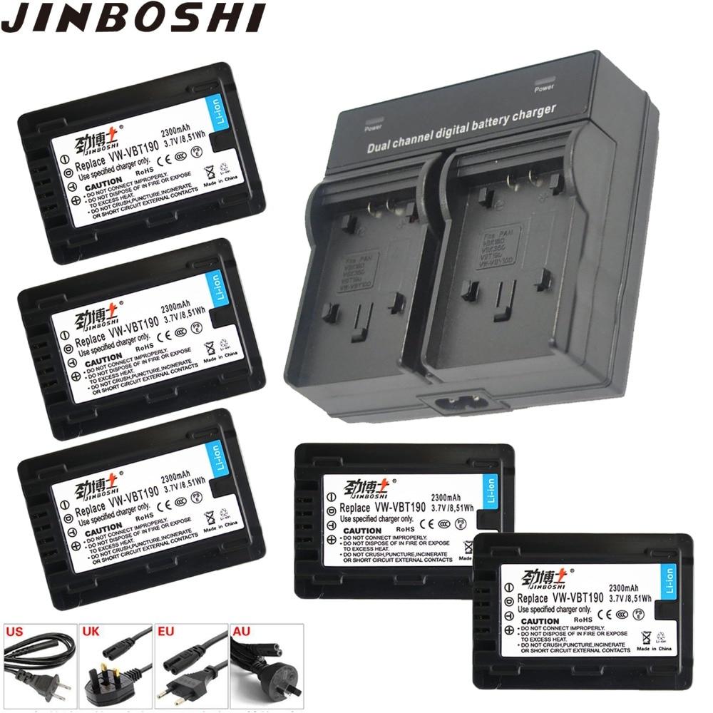 5Pcs 3.7V VW-VBT190 vw-vbt190 Battery+Dual Charger for Panasonic HC-V720, HC-V727, HC-V730, HC-V750, HC-V757, HC-V770, HC-VX8705Pcs 3.7V VW-VBT190 vw-vbt190 Battery+Dual Charger for Panasonic HC-V720, HC-V727, HC-V730, HC-V750, HC-V757, HC-V770, HC-VX870