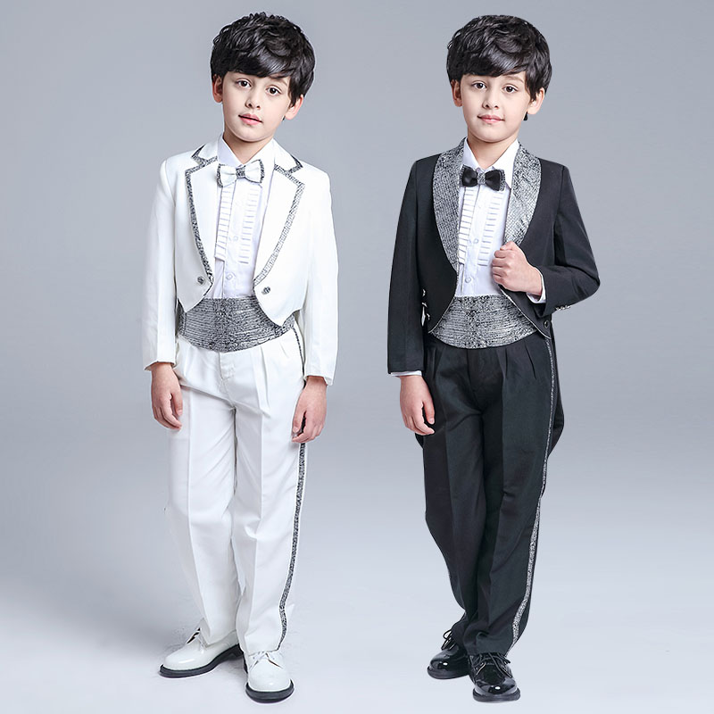 Elegant Kid Boy Wedding Suit/Boys' Tuxedo/Boy Blazers/Gentlemen Boys Suits For Weddings (Jacket+Pants+Tie+Girdle+Shirt) 4-14T 2016 new arrival fashion baby boys kids blazers boy suit for weddings prom formal wine red white dress wedding boy suits