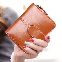 цена на 2019 High quality Genuine Leather women wallets short Men leather wallet Fashion women's Purse Hot Standard portefeuille femme