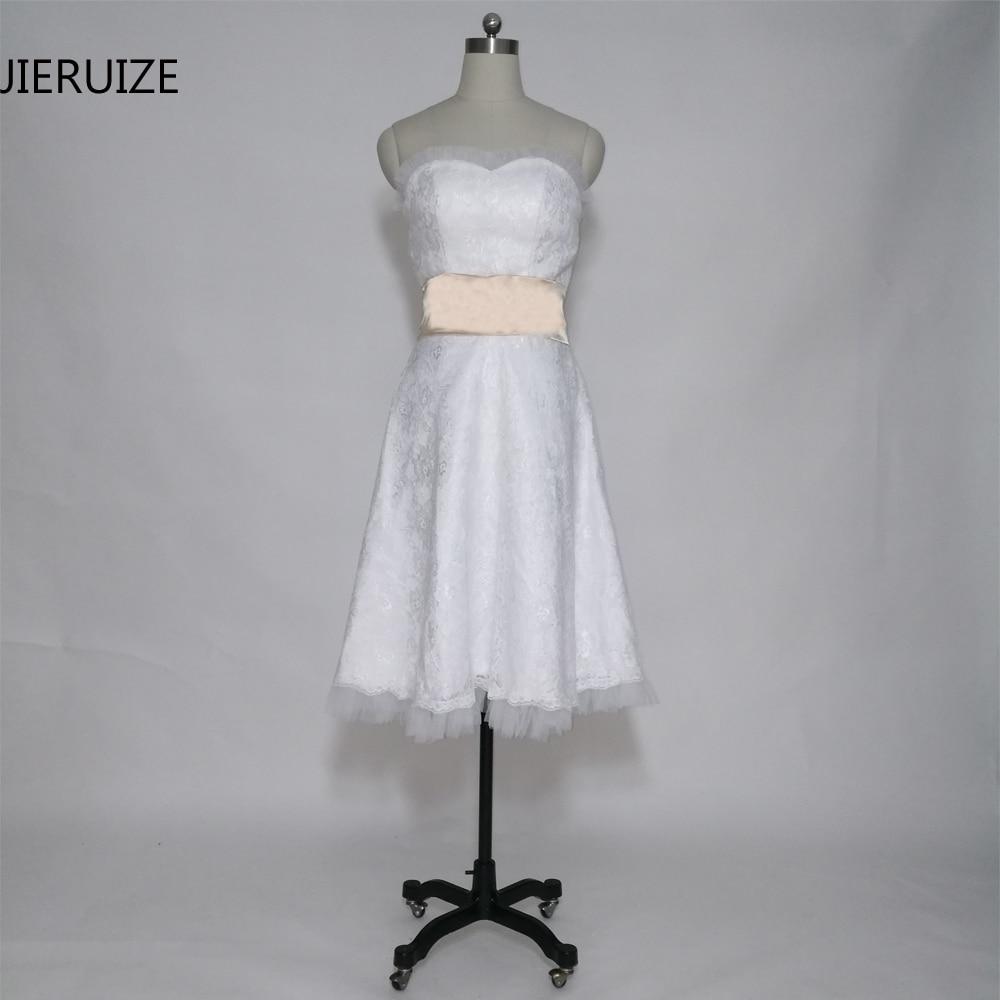 99ae920b9 Click here to Buy Now!! JIERUIZE vestidos de novia Branco Do Laço Do  Vintage Curto Vestidos de Casamento Do Querido Do Casamento de Praia  Vestidos de noiva ...
