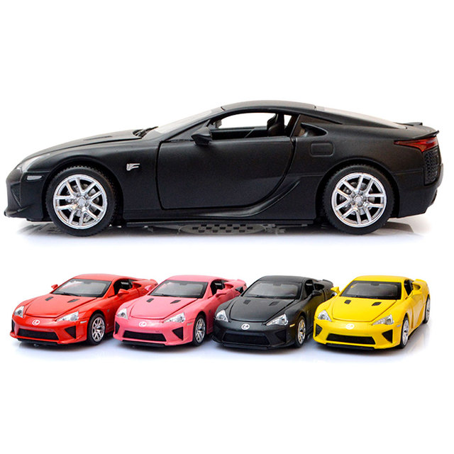 LFA Sport Car Diecast Metal Car Model 1:32 Janpanese Luxury Alloy Car Pull Back Simulation Oyuncak Araba Acousto-optic Autos Toy