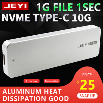 JEYI i9 NVME volledige aluminium TYPEC3.1 mobiele hdd box optibay hdd case TYPE C3.1 JMS583 m. 2 USB3.1 M.2 PCIE SSD U.2 PCI-E TYPE C