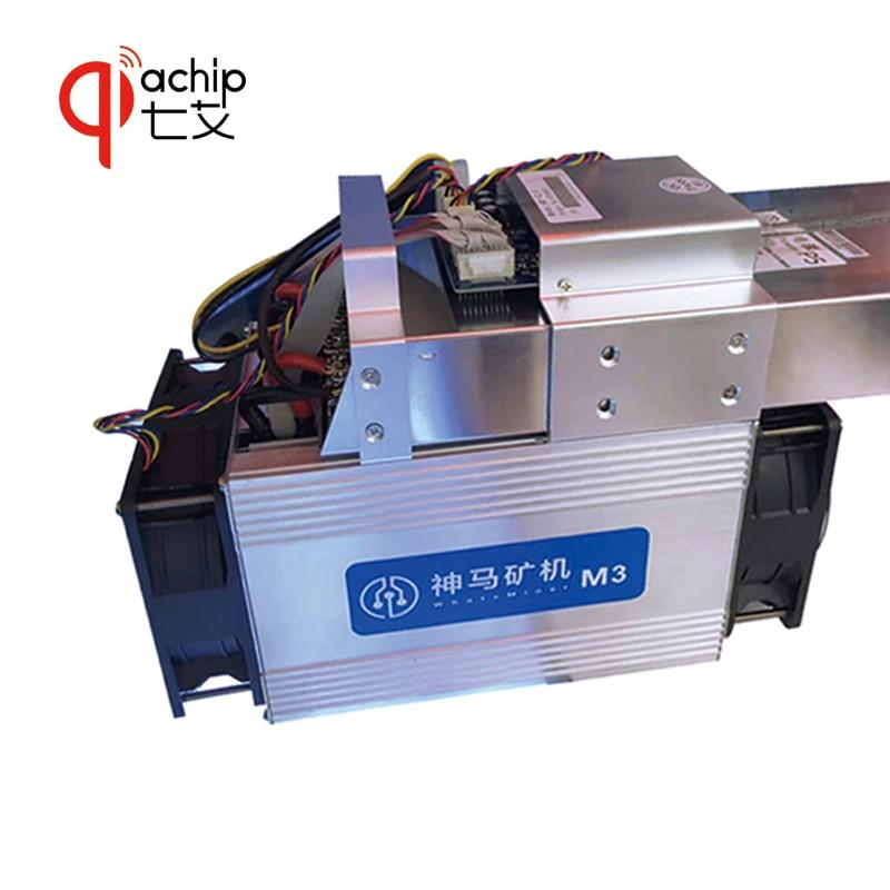 QiaChip nuevo estilo El BTC BCH minero Asic Bitcoin minero WhatsMiner M3 12TH/S 0,17 kw/TH mejor que Antminer S7 S9 e9 V9 + PSU