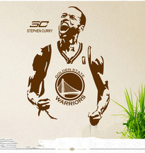 Free shipping diy wallpaper Basketball superstar Stephen Curry wall stickers Home Decoration mural