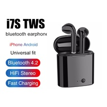 URMINE i7s TWS Bluetooth Earphone Stereo Earbud Wireless Headphones With Charging Box Mic For xiaomi All Phone