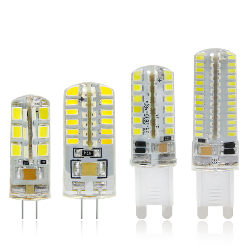 купить G4 G9 LED Lamp 3W 2W 1W Corn Bulb 220V & DC 12V SMD 2835 3014 24 48 64 104 leds Lampada LED 360 degrees Crystal Chandelier Light недорого