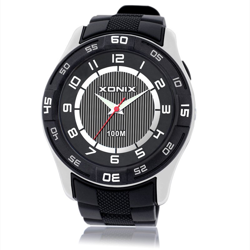 XONIX Sports Brand Fashion Men Military Sports Water Resistant Watches Men's Quartz Clock Man PU Strap Casual Wrist Watch xonix sport brand fashion men military sports water resistant watches men s quartz clock man silicone strap casual wrist watch