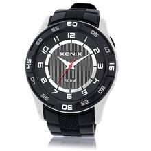 XONIX Deportes Marca Moda Hombre Militar de Cuarzo Reloj Deportivo Resistente Al Agua Relojes de Los Hombres Hombre de LA PU de La Correa de Muñeca Casual Reloj