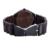 2016 top de luxo da marca homens relógio de madeira dos homens relogio kenon movimento de quartzo preto natural sandália de madeira relógios para homens relógio de pulso