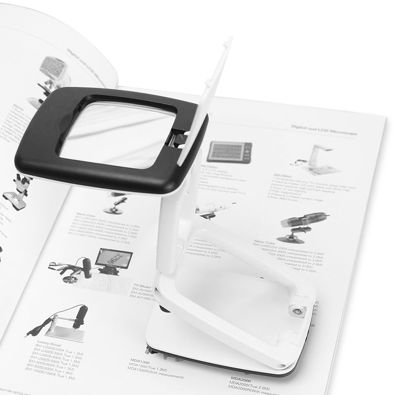 Sulankstomas 3X didinamasis lęšis 9LED kompaktiškas darbalaukio - Matavimo prietaisai - Nuotrauka 4