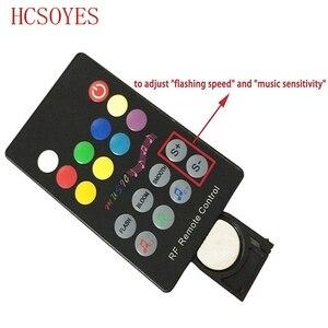 Image 4 - DC12V 24V 18 klawiszy RGB muzyka kontroler LED RF pilot zdalnego sterowania czujnik dźwięku głos kontrola dźwięku dla 3528 5050 listwy RGB LED światła