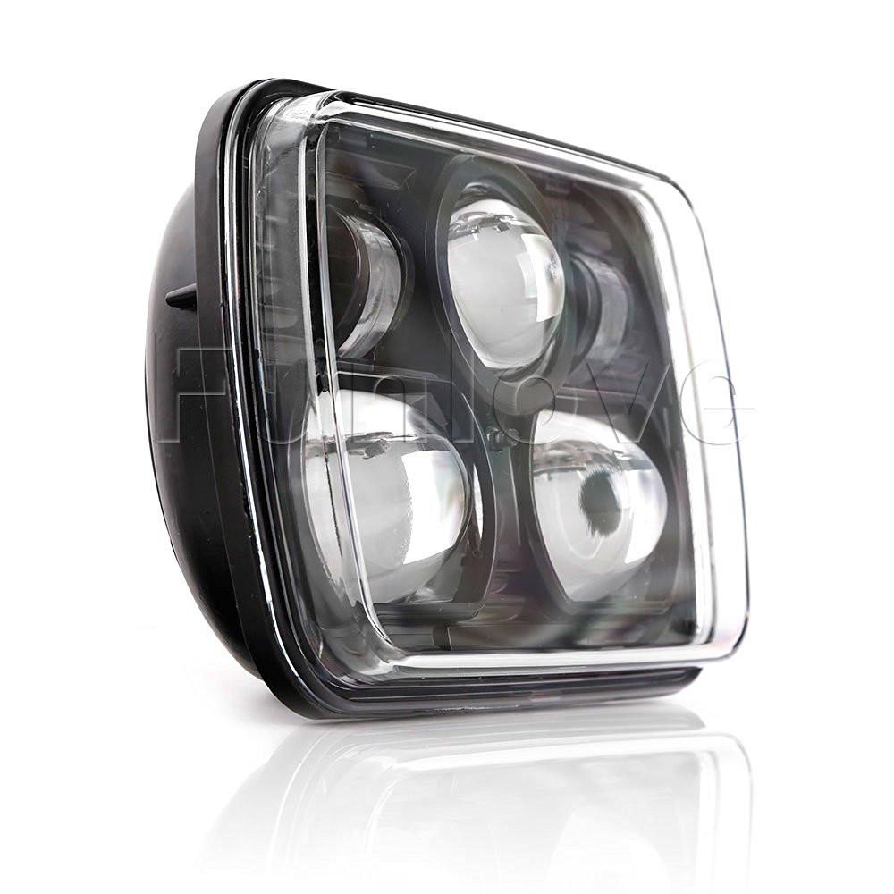 Black 5 X 7 LED Headlights Replacement for Jeep Cherokee XJ Trucks (4)