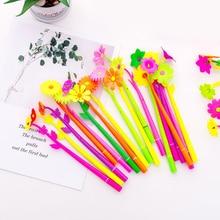 Novelty Flowers Shape Gel Pen 0.38mm Black Ink Pens Korean Stationery School Supply Gift