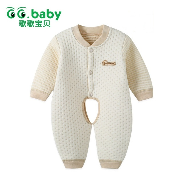 2016 Bebé Recién Nacido Invierno Deslizadores Para Tejidos de Algodón recién nacidos Mamelucos Monos De Mono Infantil de Manga Larga