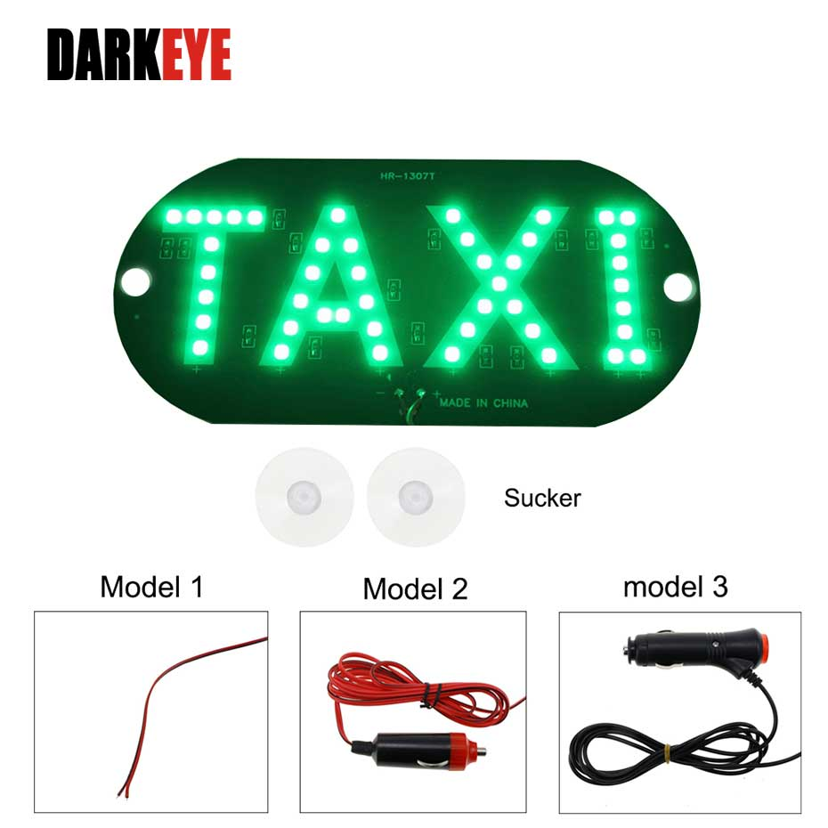 4 colors Taxi Led Car Windscreen Cab indicator Lamp Sign Blue White Red Green LED Windshield Taxi Light Lamp DRL DC12V BJ
