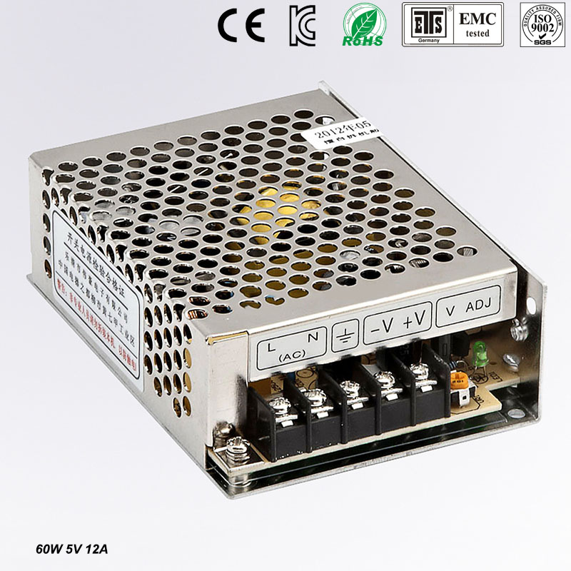Small Volume Single Output mini size Switching power supply MS-60-5 60W 5V 12A ac dc converte
