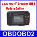 Mais recente Lançado CReader VIII Atualização Via Lançamento Oficial do Site X431 Creader 8 Scanner DHL Grátis