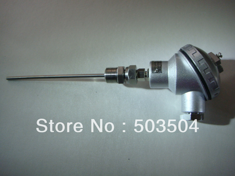 5 * 200mm 0-100C Pt100 jutiklis su temperatūros pernešėjo 4-20mA išvestimi