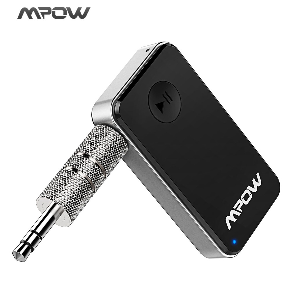 Mpow MBR1 Mini Bluetooth 4.0 Receiver Speaker Wireless Adapter 3.5 mm Output for Phones اللوحية مع ميكروفون للاتصال اليدوي