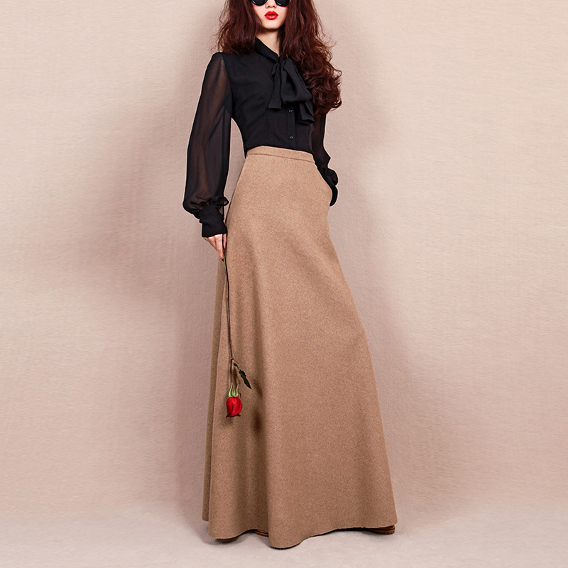 Popular Long Wool Skirt-Buy Cheap Long Wool Skirt lots from China ...