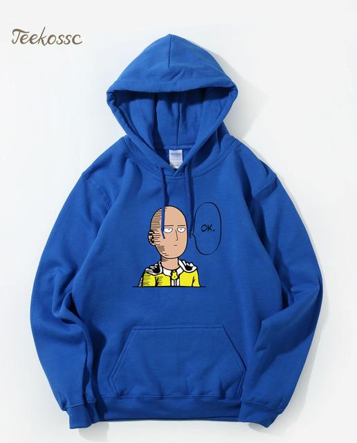 One Punch Man Hoodie Men Hero Saitama Oppai Hoodies 2018 Winter Autumn Japan Anime Cool Funny Hooded Sweatshirt Loose Streetwear