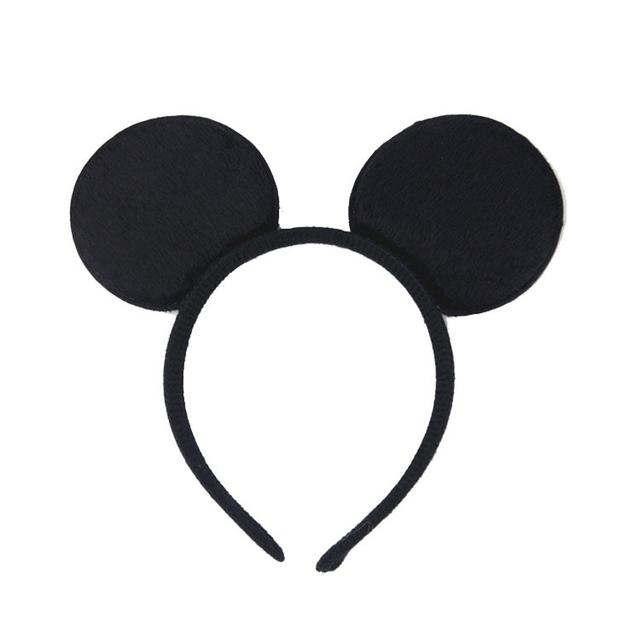 New Fashion Minnie Mouse Ears Hairband With Sequin Hair Bows For Kids Girls Cute Bling Bow Headband Hair Hoop Hair Accessories