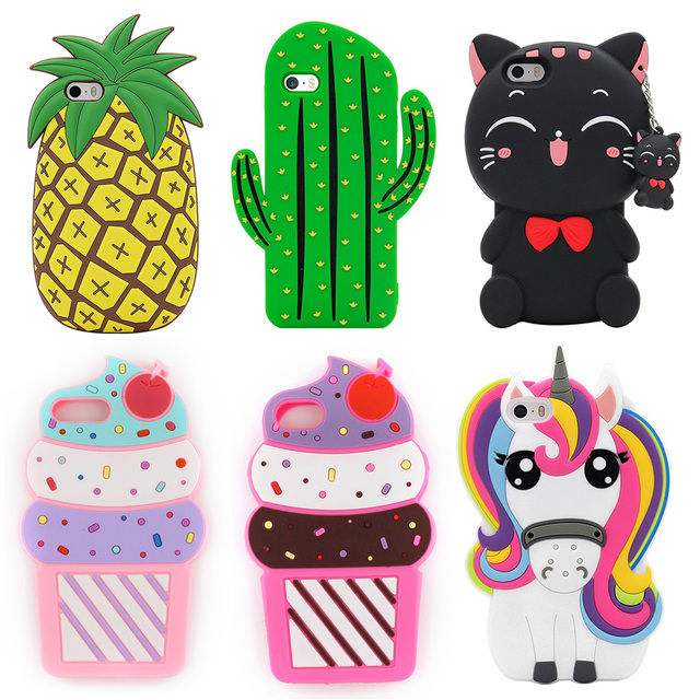 brixini.com - Ice Cream, Kitty, Unicorn & Pineapple Cases For iPhone