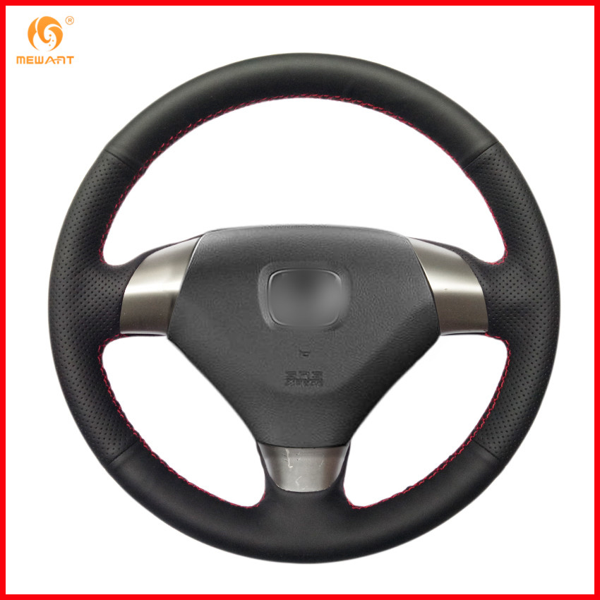 Us 19 19 20 Off Mewant Black Artificial Leather Car Steering Wheel Cover For Honda Accord 7 2002 2003 2004 2005 3 Spoke Interior Accessories In