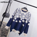 Floral Sweaters 2017 New Style Women Plus Size 3XL O-neck Long Sleeve Sweater Pullovers QYL191