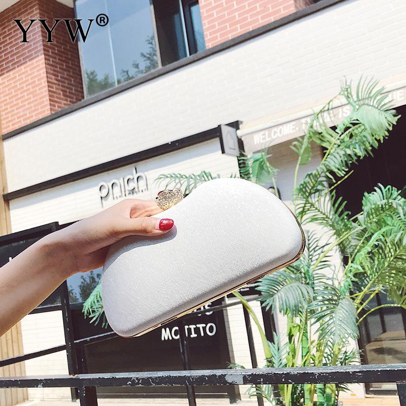 Mode Mini petite pochette femmes sac à bandoulière avec chaîne soirée pochettes sac à main en or blanc sac à bandoulière femme fête