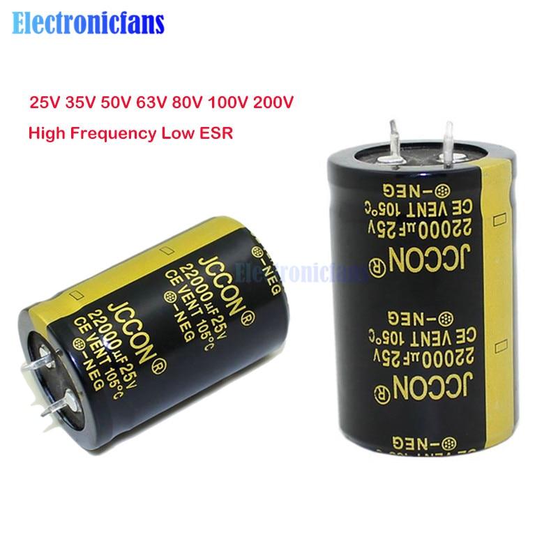 Aluminum Electrolytic Capacitor 25V 35V 50V 63V 80V 100V 200V 680uF 2200uF 4700uF 10000uF 22000uF 47000UF High Frequency Low ESR