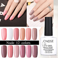 10ml Nude Colors Gel Nail Polish Long-Lasting Soak-Off Led UV Gel Lacquer Chameleon Nail Gel Manicure Varnish Nail Art