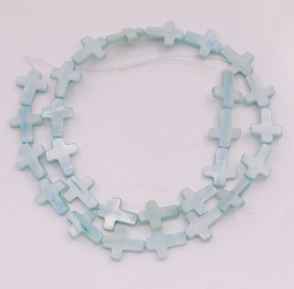 "Купить с кэшбэком Cross Shell 12mmX14mm Mother of  Pearl Loose Beads Strand 15"" Jewelry Making White blue lilac pink Choose"