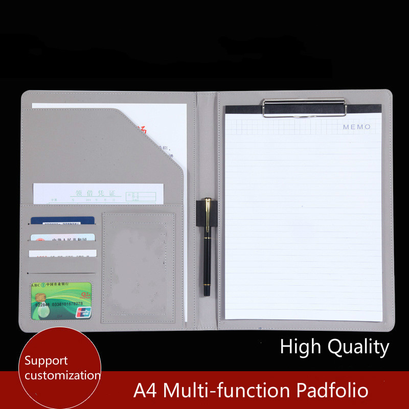 A4 PU Leather Padfolio Clipboard Folder for Documents Office School Organizer Multi-function Padfolio Organizer Planner HJW301 a4 5 cheap clipboard padfolio multi function filling products folder for documents school office supplies organizer portfolio