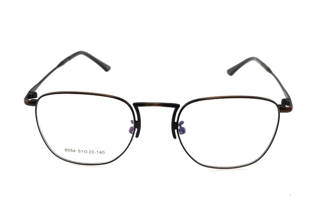 d8eb292334 Titanium Alloy Retro Bronze Eyeglasses Frame Optical Custom Made  Prescription Reading Glasses Progressive Photochromic +1