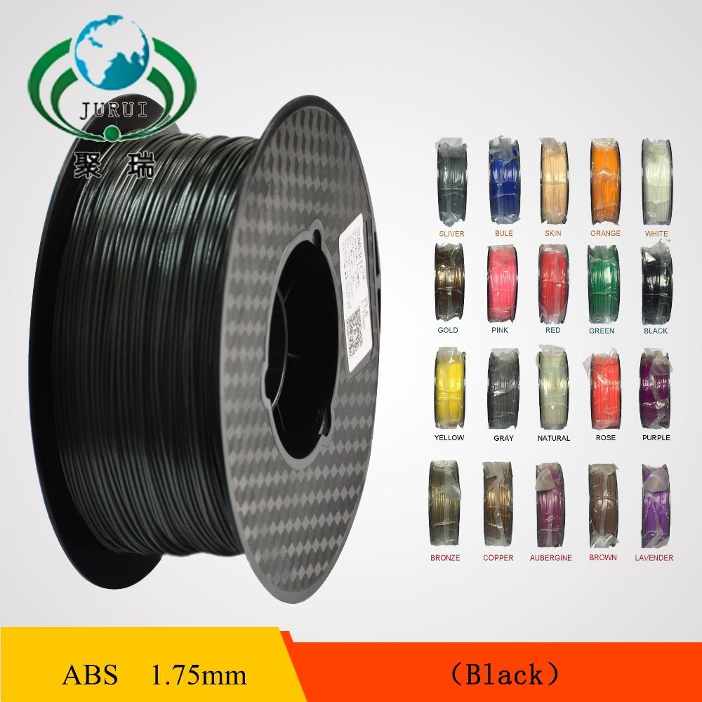Prix pour Livraison gratuite 3D Imprimante Filament ABS 1.75mm matériau 1 KG En Plastique Caoutchouc Consommables Matériel pour imprimante