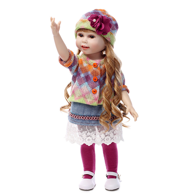 New Year Christmas Gift 18 American Girl Doll with Clothes Doll Reborn Silicone Reborn Baby Doll Our Generation Doll [mmmaww] christmas costume clothes for 18 45cm american girl doll santa sets with hat for alexander doll baby girl gift toy