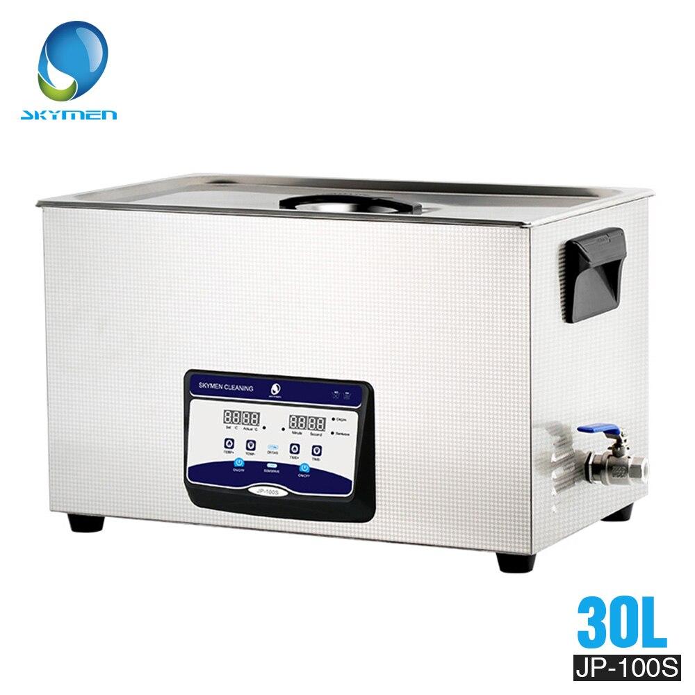 Acier inoxydable du nettoyeur 30l 600 W 110/220 V ultrasonique de SKYMEN 30l pour des pièces d'auto de Clubs de Golf d'accessoires de matériel de lavage