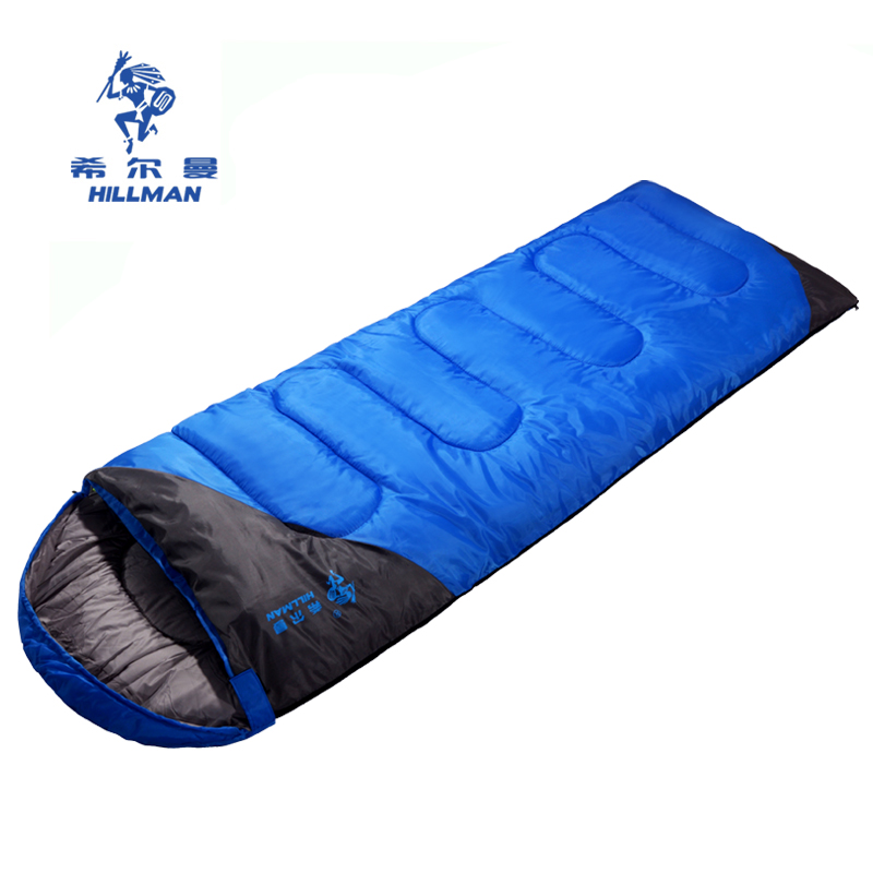 Hillman Envelope Thickened & Warm Camping Sleeping Bag for Adults190T Four-season Spliced Sleeping Bag Used at 5-15 Centi-Degree