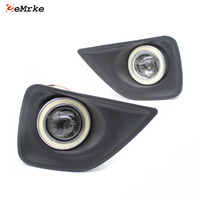 Car Styling For Toyota Mark X COB Angel Eyes DRL Yellow Signal Light H11 Halogen / Xenon E13 Fog Lights with Projector Lens