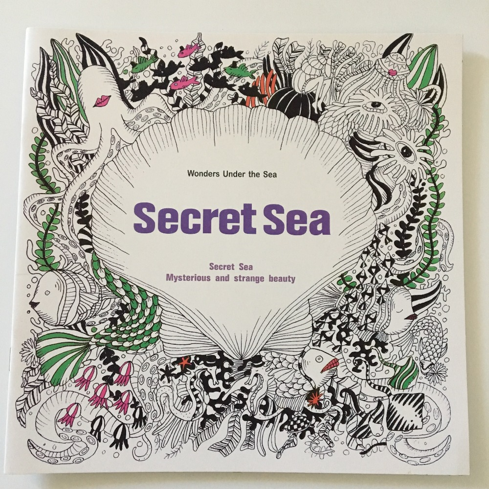 Under the sea coloring book for adults - English Edition Secret Sea Coloring Book 24 Pages Secret Garden Styles For Adult Relieve Stress Painting