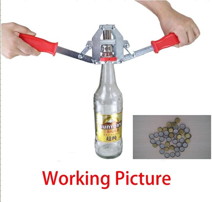 Manual Beer Bottle Capper For 26mm Crown Caps Homebrew Beer Capper + 50pcs 26mm Crown Caps