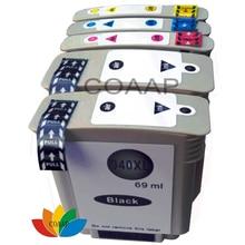 5 упак. совместимость hp 940 xl с чипом чернильный картридж для hp 940xl officejet pro 8500 all-in-one 8000 принтер