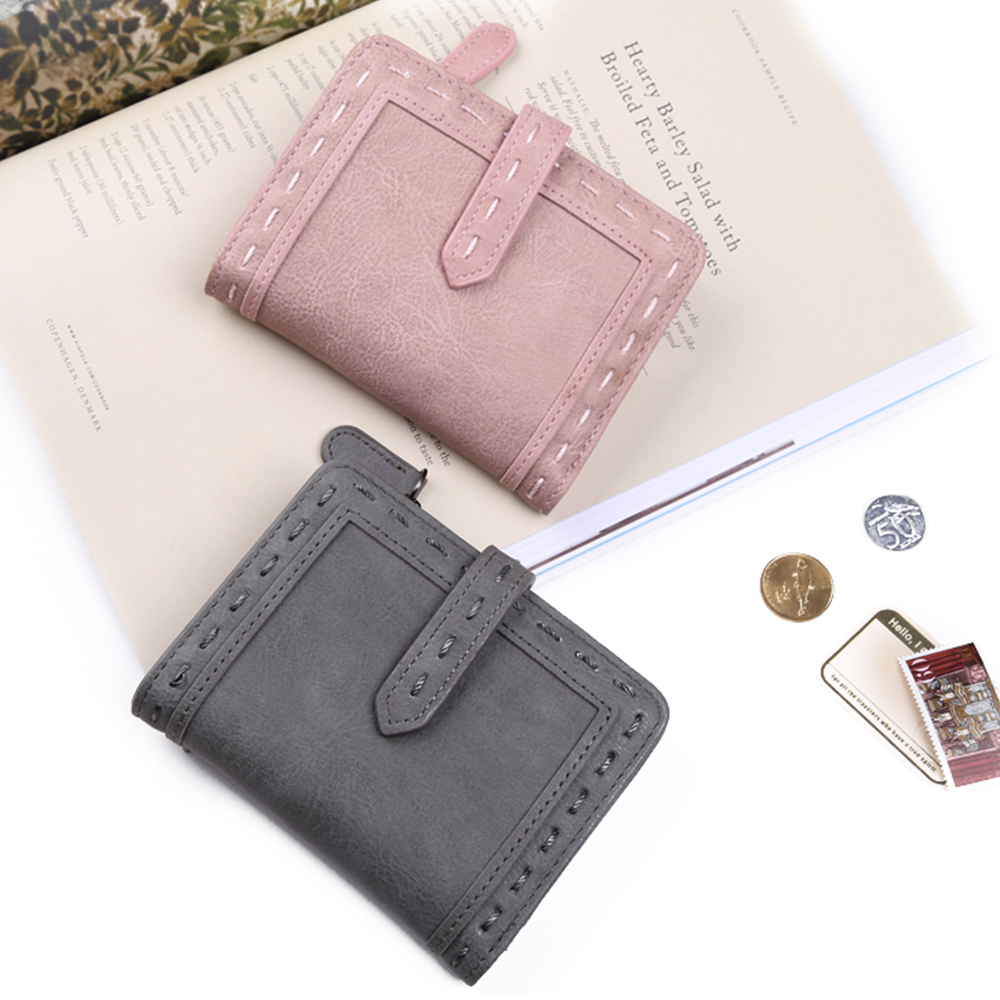 6135af2be2eb4 Nico Louise Women Vintage Leather Short Wallet Fashion Girls Zipper Change  Clasp Purse Money Coin Card Holders wallets Carteras-in Wallets from  Luggage ...