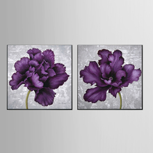 Wholesale Top Wall Deocr Canvas Painting Purple flower series Modern Printed Oil Pictures Living Room No Frame 201811-KJQ-276