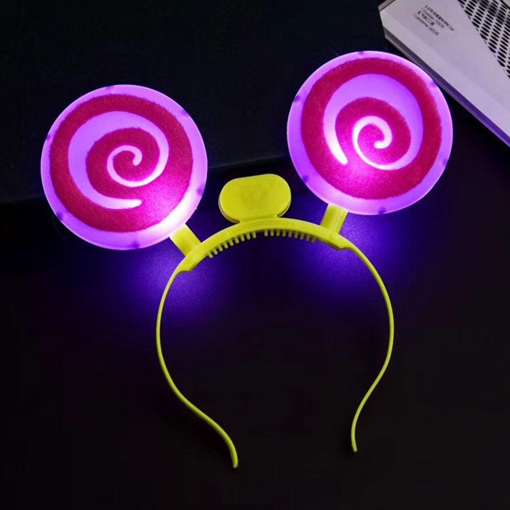 Светящиеся наголовный обруч кошелек с застежкой леденец обруч светящиеся пластиковая игрушка подарок для вечерние карнавальный Забавный светодиодный косплей игра орнамент детский подарок